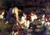 Waterhouse, John William: Hylas and the Nymphs. Fine Art Print/Poster. Sizes: A3/A2/A1 (00109)